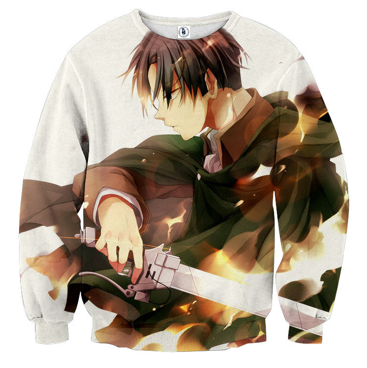 AttackOnTitan Levi 3D Printed Sweatshirts