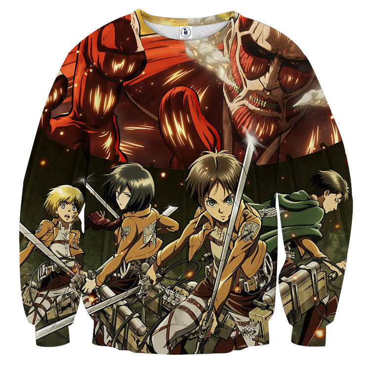 AttackOnTitan Squad Colossal 3D Printed Sweatshirts