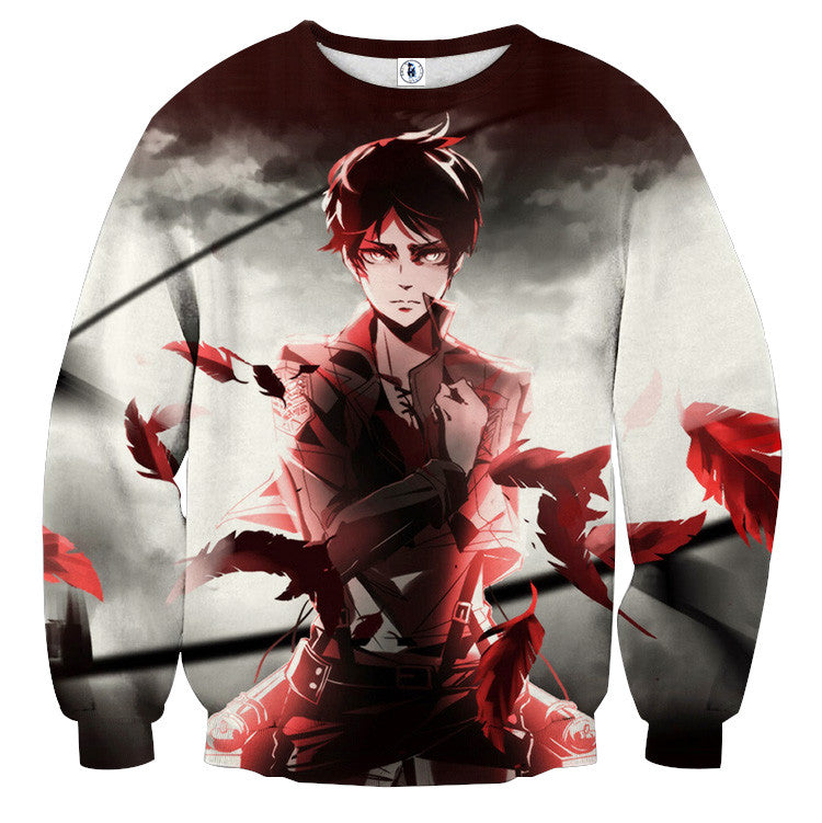 AttackOnTitan Soldier Eren 3D Printed Sweatshirts