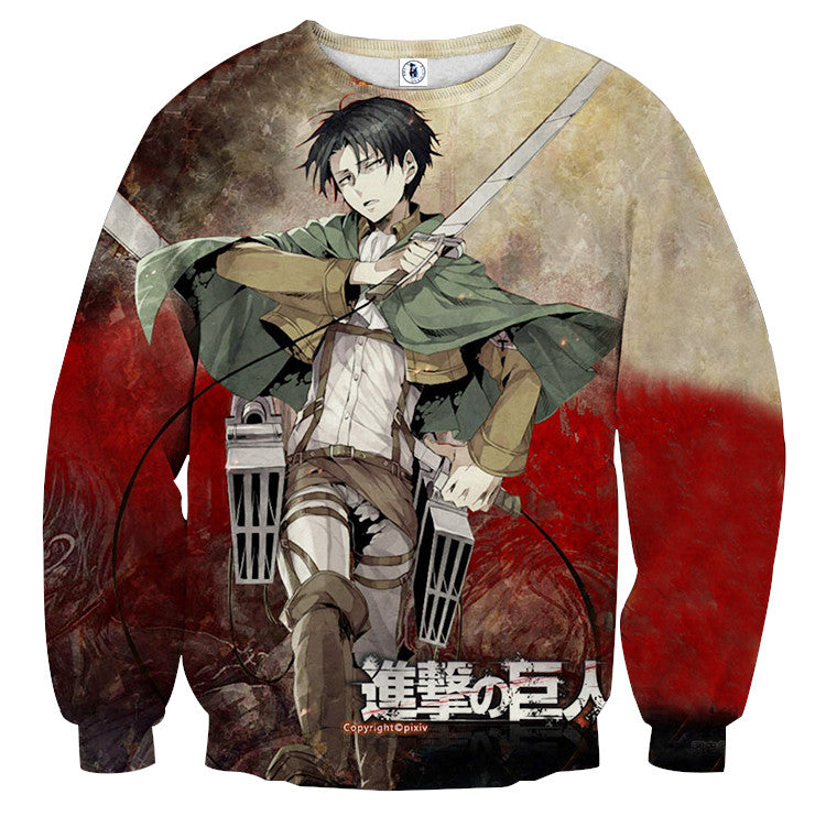 AttackOnTitan Levi_Blade 3D Printed Sweatshirts