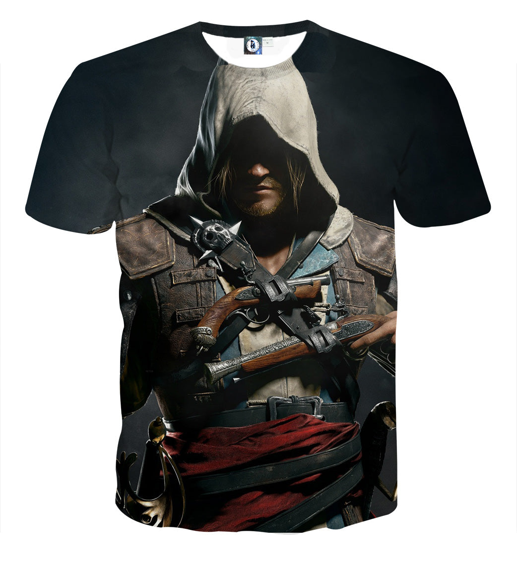 Assassin's Creed Edward James Kenway 3D Printed T Shirt