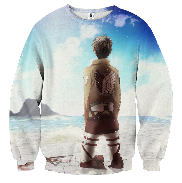 AttackOnTitan Eren-Attack 3D Printed Sweatshirts