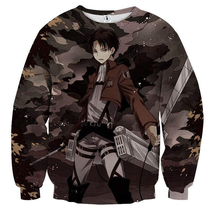 AttackOnTitan Levi Attacking 3D Printed Sweatshirts