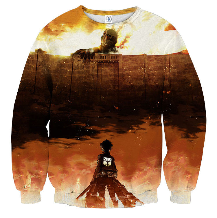 AttackOnTitan Grim Reminder 3D Printed Sweatshirts