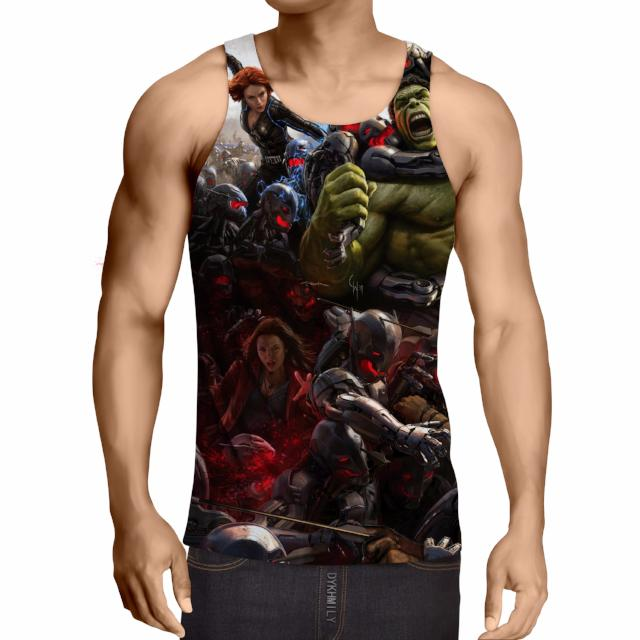 Avengers Age Of Ultron 3D Printed Tank Top