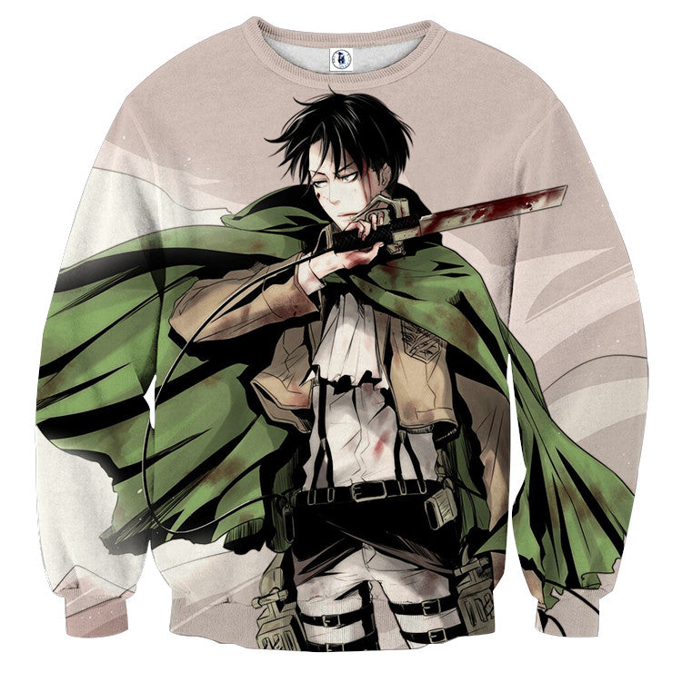 AttackOnTitan Cool Levi 3D Printed Sweatshirts