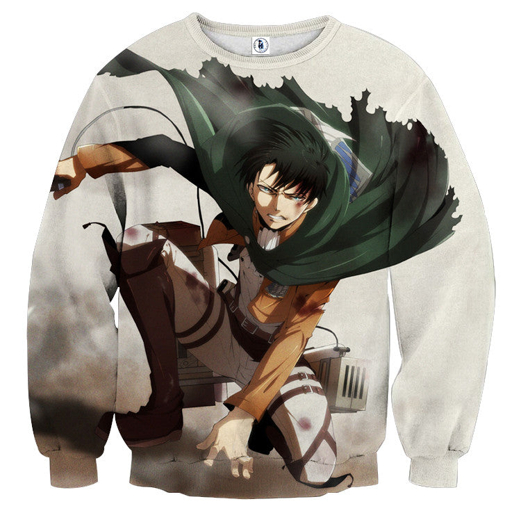 AttackOnTitan Ackerman Levi 3D Printed Sweatshirts