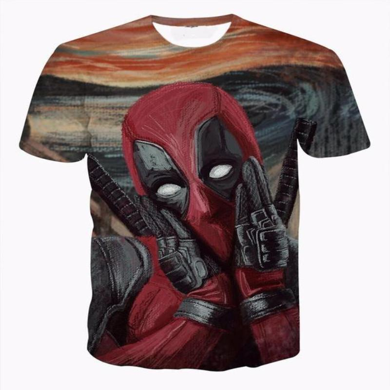 Art Cool Funny Deadpool T-Shirt 3D Printed