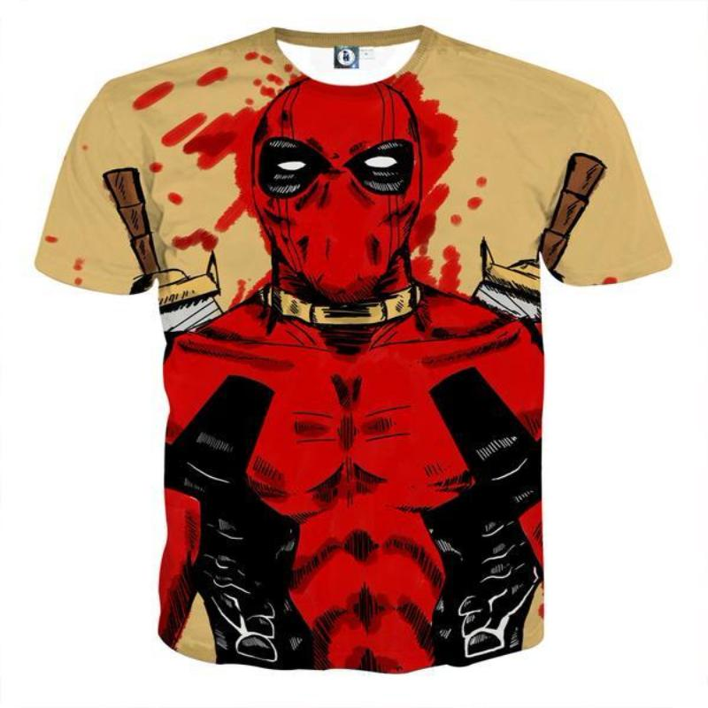 3D Printed Art Deadpool T-Shirt