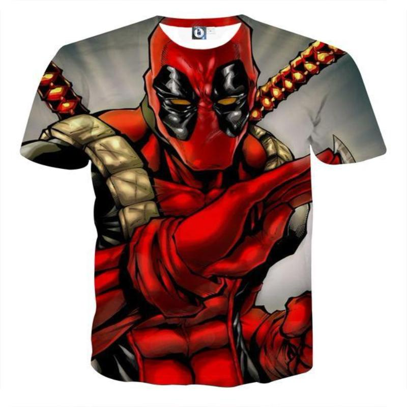 Bad-Ass Deadpool 3D Printed T-Shirt