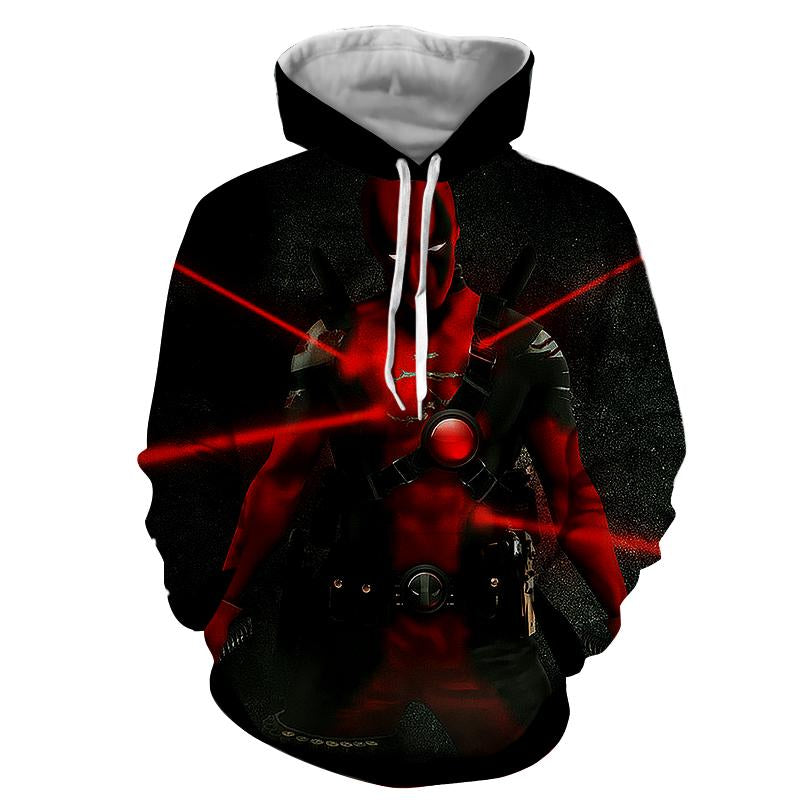 Bad Ass Deadpool 3D Printed Hoodie