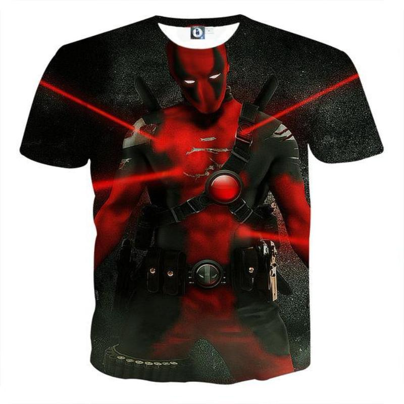 Black Deadpool 3D Printed T-Shirt