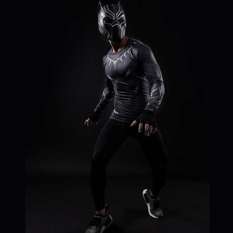 Black Panther Shirt Compression Long Sleeve Shirt