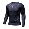 3D Printed Cool Black Panther Compression Long Sleeve Shirt