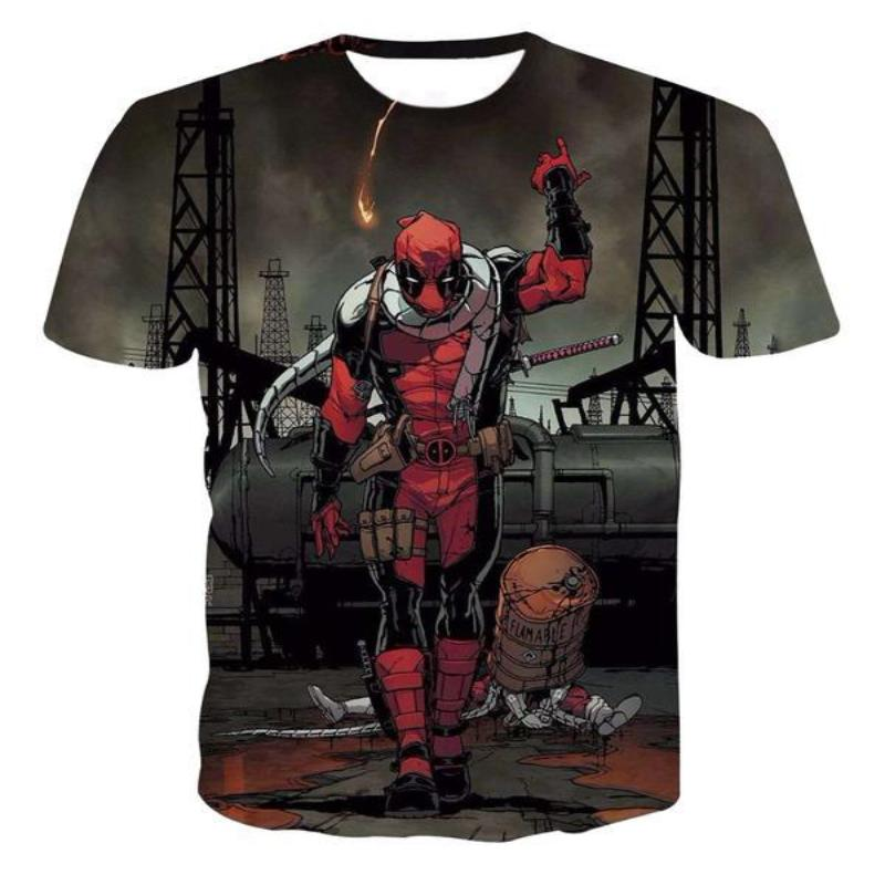 3D Printed Cool Deadpool T-Shirt