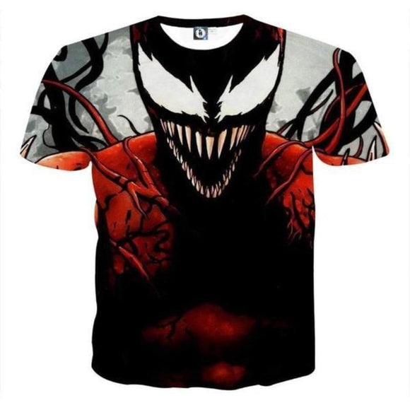3D Printed Venemous Spiderman T Shirt