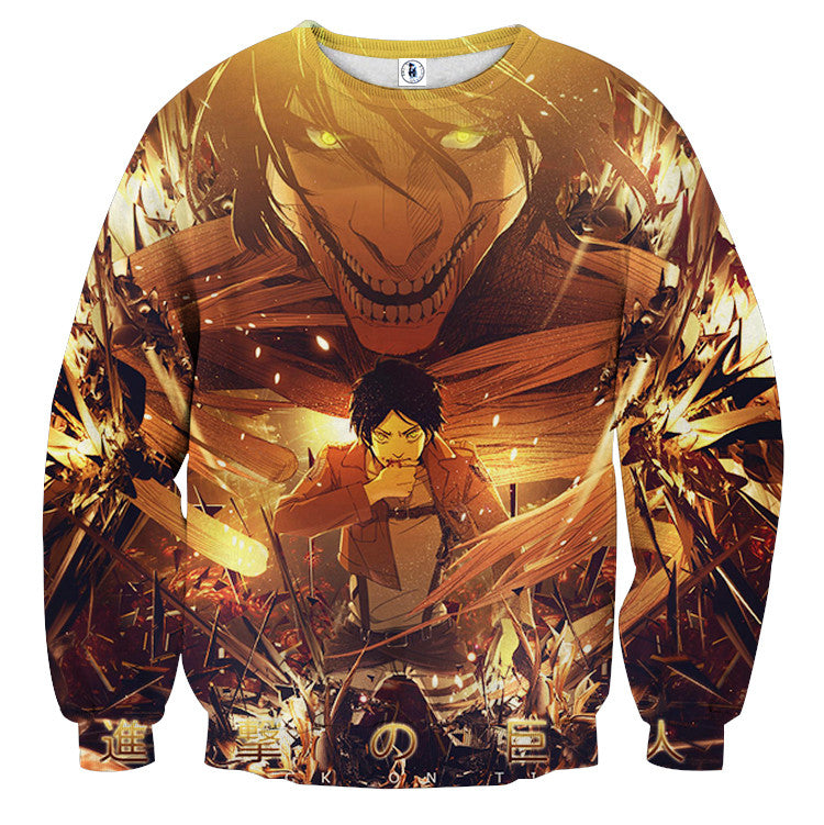 AttackOnTitan Eren Titan 3D Printed Sweatshirts
