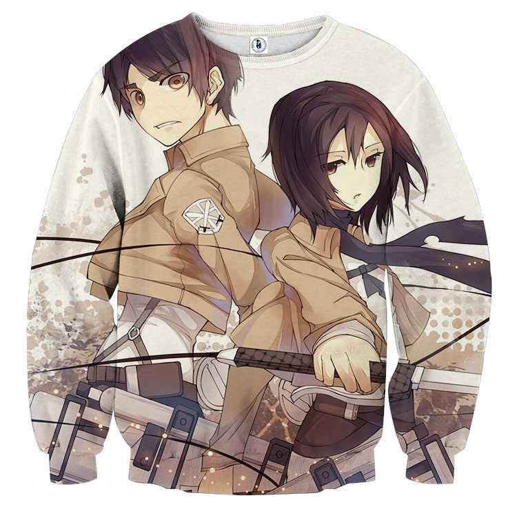AttackOnTitan Fight Eren 3D Printed Sweatshirts