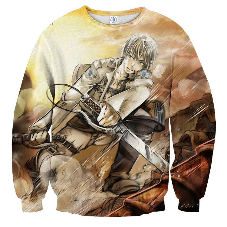 AttackOnTitan White Haired Eren 3D Printed Sweatshirts