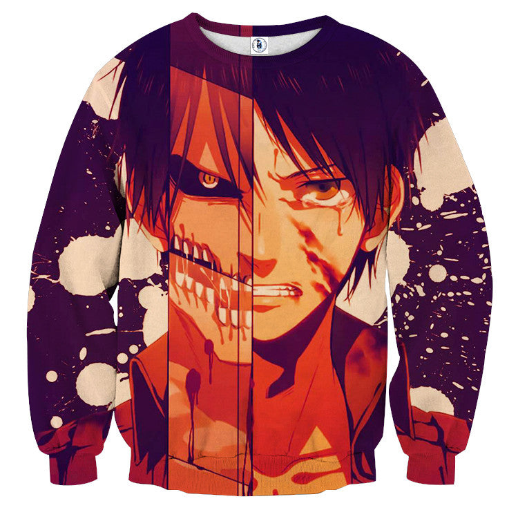 AttackOnTitan Eren Cool Titan 3D Printed Sweatshirts