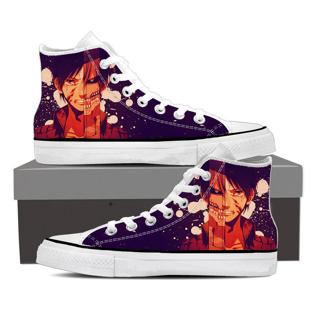 Attack On Titan Eren And His Titan Attack On Titan Shoes