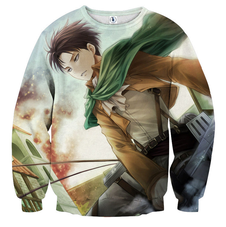 AttackOnTitan Levi Swinging 3D Printed Sweatshirts