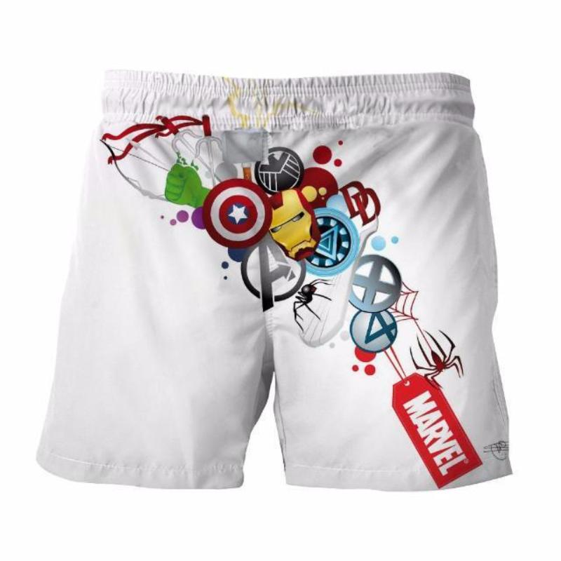 All Marvel White 3D Printed Anime Shorts