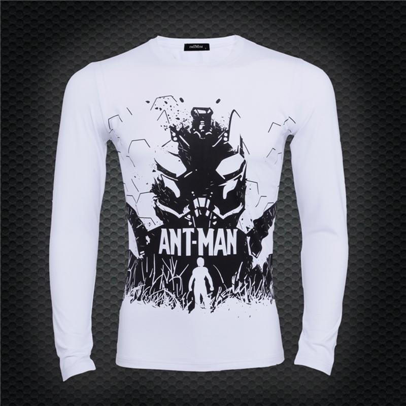 Ant-man White High-quality 3D Printed Long Sleeve Shirt