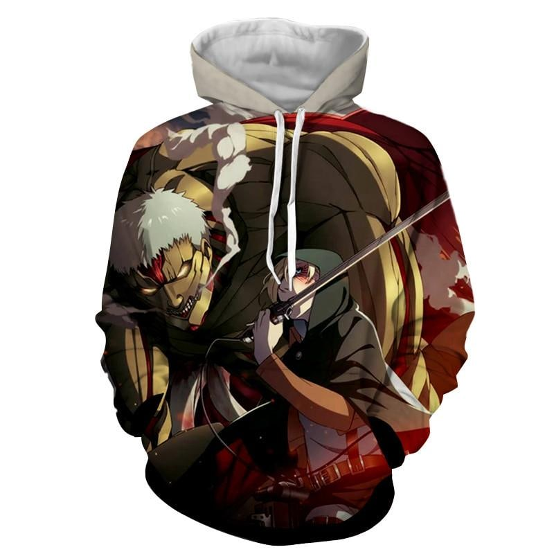 Attack On Titan 3D Printed Armored Titan Attack On Titan Hoodie