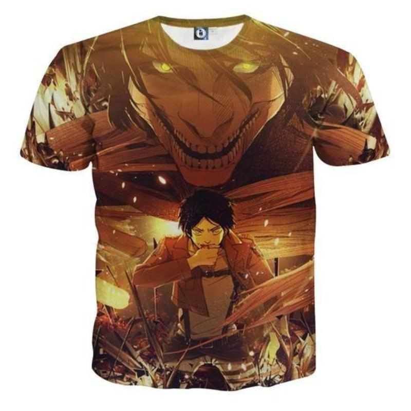 Attack On Titan 3D Printed Attack On Titan T Shirt Eren Transforming