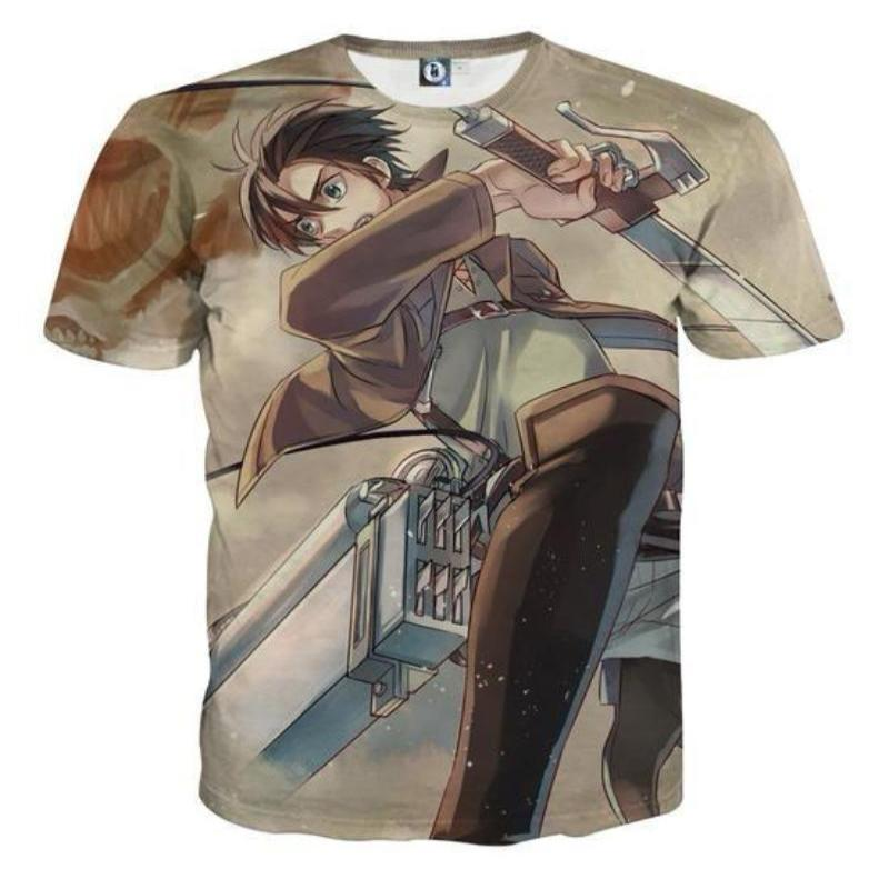 Attack On Titan 3D Printed Attack On Titan T Shirt Eren Yeager