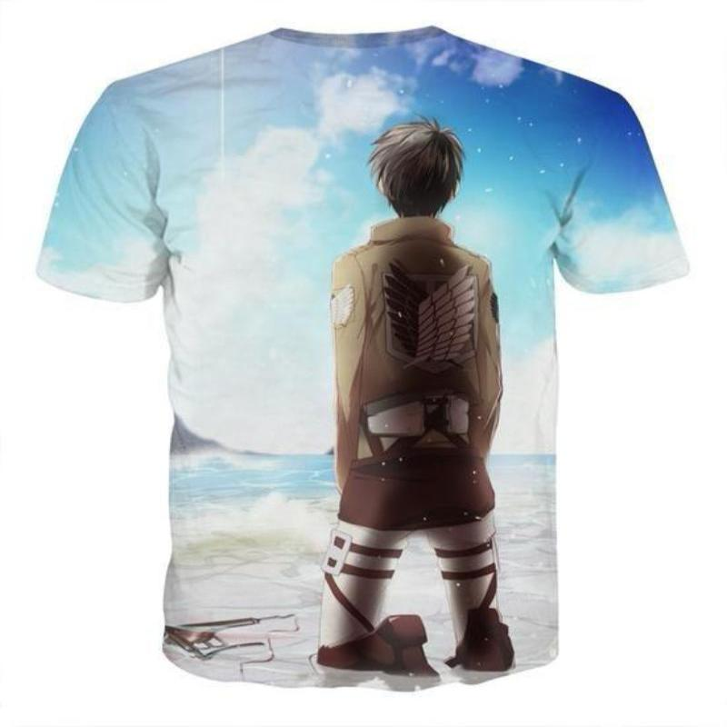 Attack On Titan 3D Printed Attack On Titan T Shirt Freedom Fighter