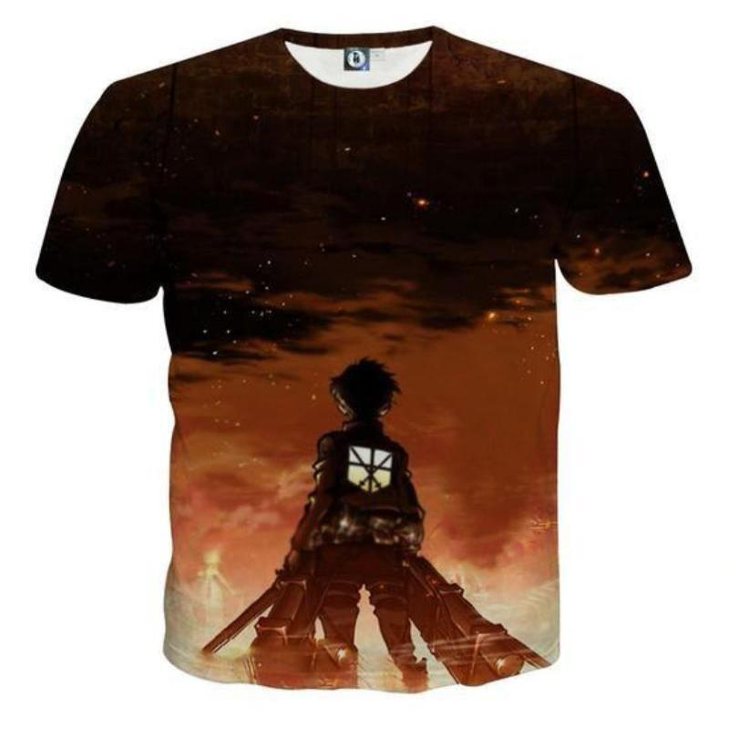 Attack On Titan 3D Printed Attack On Titan T Shirt Grim Reminder
