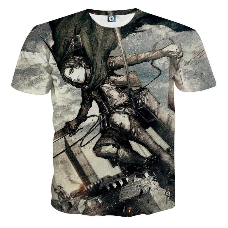Attack On Titan T-Shirt - Levi Ackerman 3D Printed T-Shirt
