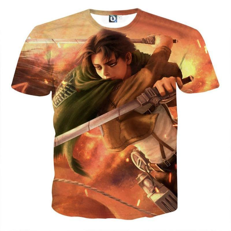 Attack On Titan T-Shirt - Levi 3D Printed T-Shirt