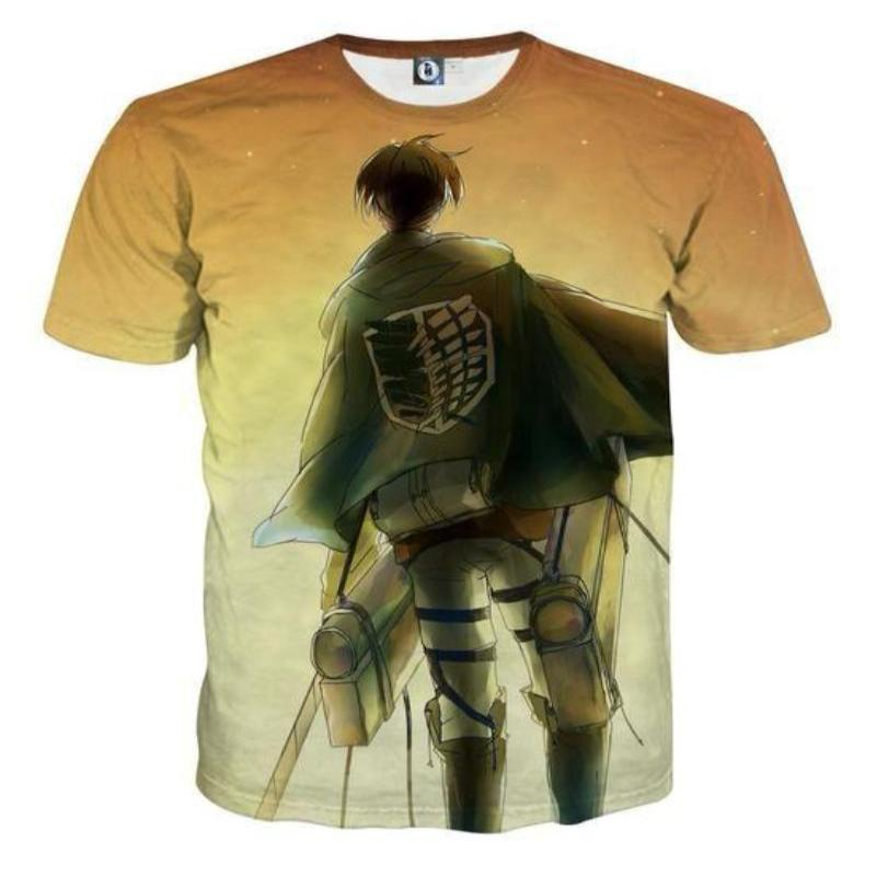 Attack On Titan T-Shirt -  Scouting Legion Soldier 3D Printed T-Shirt