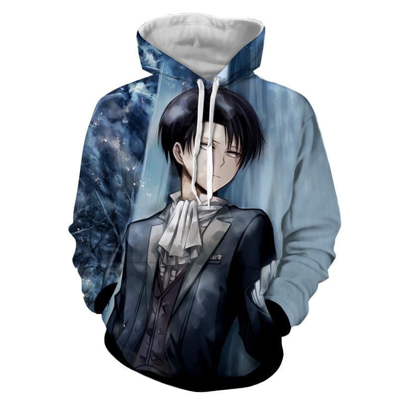 Attack On Titan 3D Printed Clean Freak Levi Hoodie