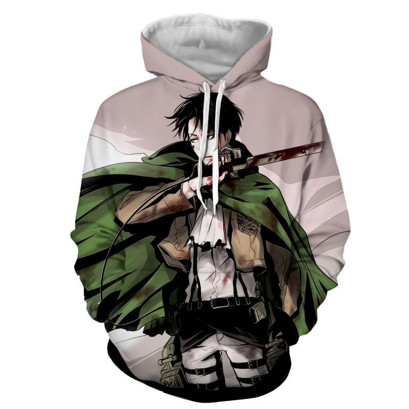 3D Printed Cool Levi Attack On Titan Hoodie