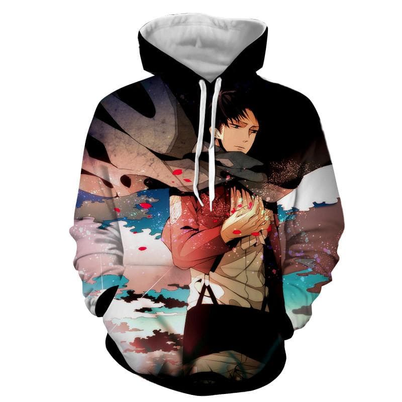 Attack On Titan 3D Printed Cute Levi Hoodie