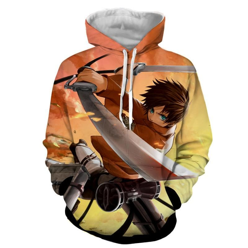 3D Printed Eren Attack On Titan Hoodie
