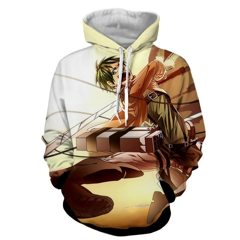 Attack On Titan Fighting Eren Hoodie