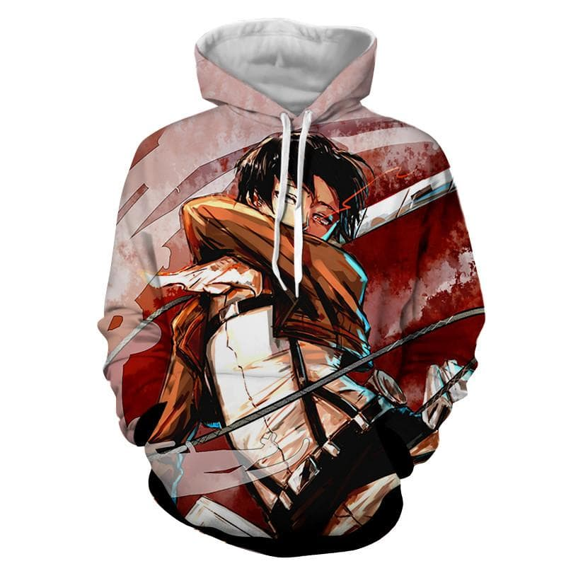 3D Printed Fighting Levi Attack On Titan Hoodie