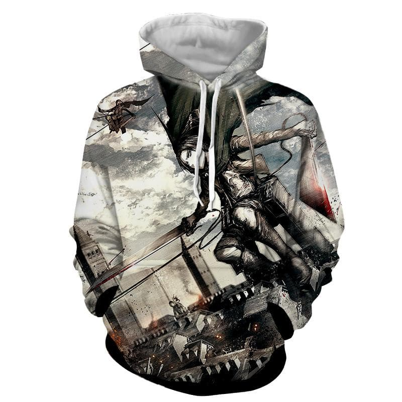 Attack On Titan Fighting Levi Hoodie