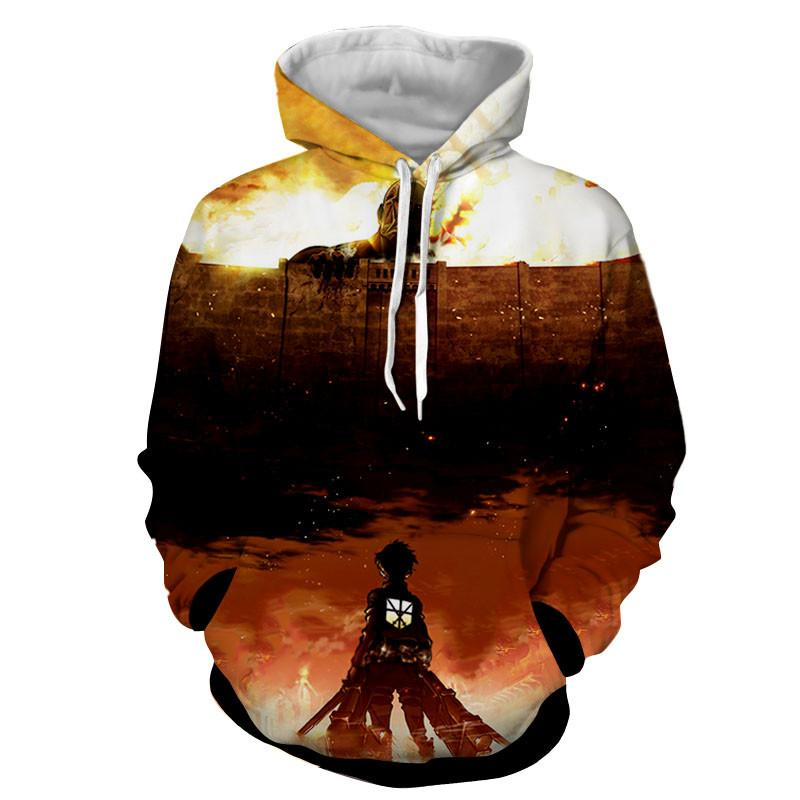 Attack On Titan 3D Printed Grim Reminder Hoodie