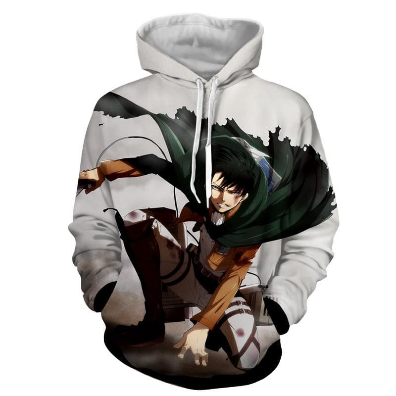 3D Printed Levi Ackerman Attack On Titan Hoodie
