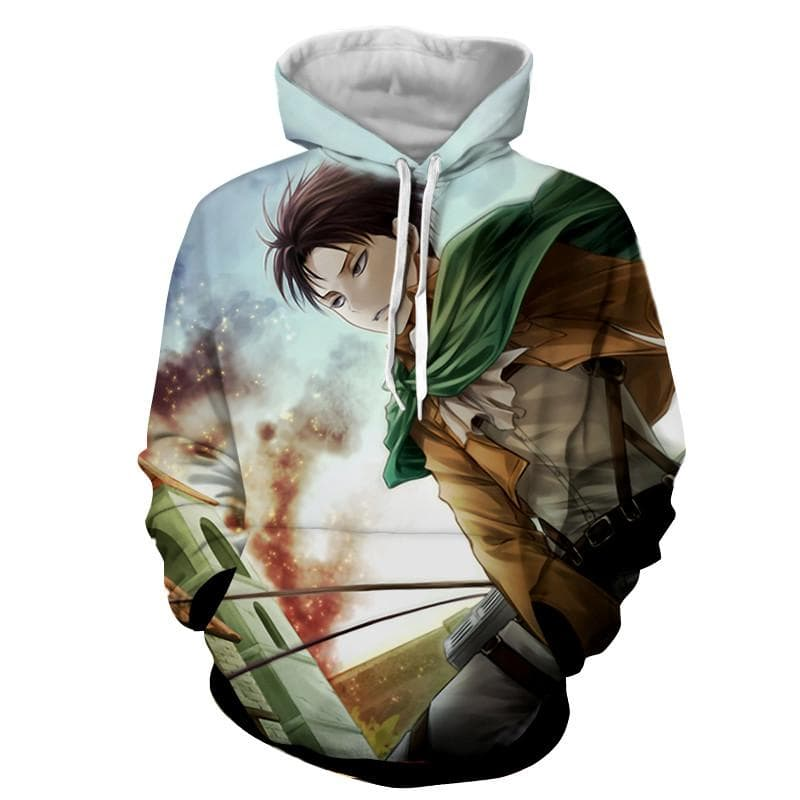 Attack On Titan 3D Printed Levi Attack on Titan Hoodie