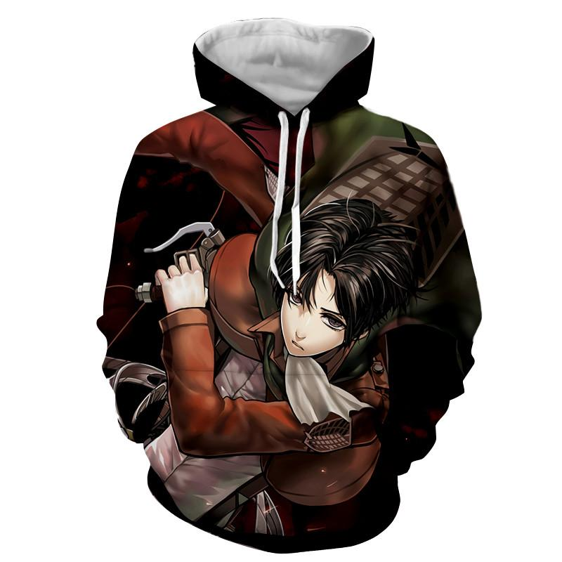 Attack On Titan 3D Printed Levi Cool Attack on Titan Hoodie