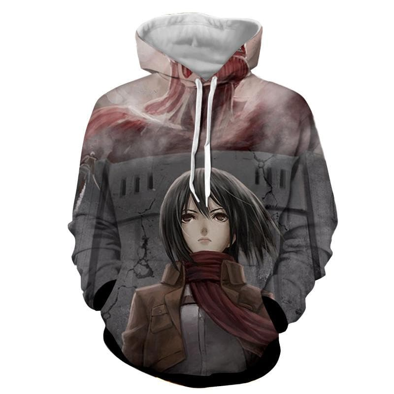 Attack On Titan 3D Printed Mikasa Colossal Attack On Titan Hoodie