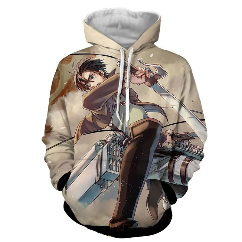 Attack On Titan 3D Printed ODM Gear Eren Attack On Titan Hoodie