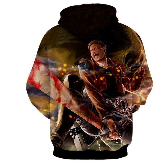 Attack On Titan 3D Printed Reiner Attack On Titan Hoodie